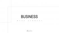 【極簡商務】黑白線條工作總結匯報商務通用模板10