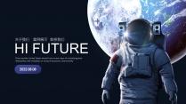 太空主题科技互联网公司企业工作PPT-2