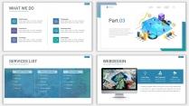 2018蓝色极简网页风PPT模板示例6