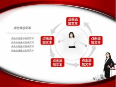 红色都市丽人商务PPT模板示例4