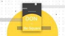 【经典配色】黑黄概念波点商务报告提案通用型模板