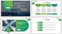 2018绿色极简时尚网页风PPT模板示例5