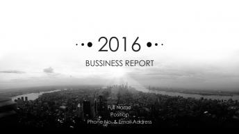 【极简】黑白极简商务报告模板