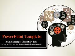 脑图抽象艺术PPT模板示例1
