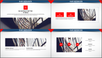 经典红色杂志风图文混排PPT模板示例5