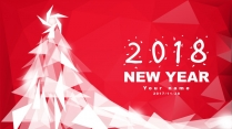【圣诞新年】红白庆典个性时尚多边形节日拼贴p示例2