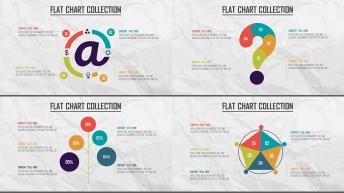 创意多色炫彩扁平可视化商业图表合25套【第八期】