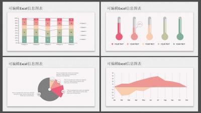 ppt素材 ppt图表 可编辑excel图表合集3(两种配色)  &