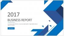 创意蓝色总结报告工作计划商务策划模板3