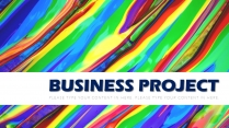 欧美商务项目报告-简约彩色扁平模板