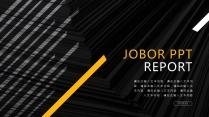 【杂志风商务报告模板18】橙黄色欧美时尚科技创意