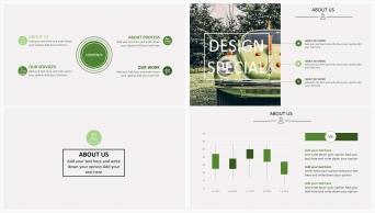 欧美清新风系列2:森林绿扁平化商务实用PPT模板示例4