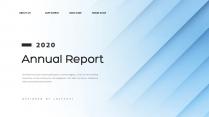 【创意几何】经典蓝色总结报告商务展示模板