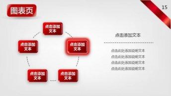 红色飘带宽屏商务PPT模板示例5