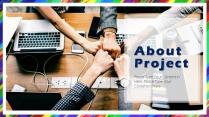 欧美商务项目报告-简约彩色扁平模板示例3