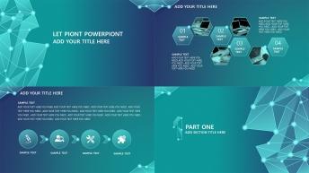 藍色簡約創意現代商務匯報通用模板【通透系列】