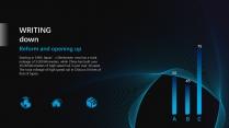 【蓝紫渐变】旋涡高端简洁时尚几何商务报告模版示例4