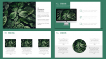 【耀你好看】北欧风绿植时尚工作总结汇报模板示例6