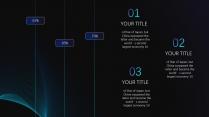 【蓝紫渐变】旋涡高端简洁时尚几何商务报告模版示例5