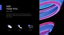 【抽象派】艺术渐变蓝紫酷炫模板2示例4