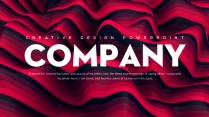 【流彩】大气抽象玫红色创意商务工作汇报PPT模板