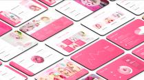超甜粉色简洁时尚通用模板示例3