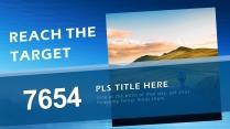 【藍色風格】簡約實用商業計劃書項目報告示例7