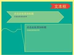 复古绿色商务PPT模板示例3