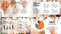 【日暖风和】极简高端橘色商务工作总结年终汇报项目示例6