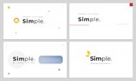 【极简主义】4款动态换色极简留白PPT模板合集