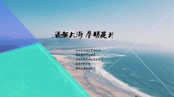 【面朝大海 春暖花开】图文混排 PPT 模板