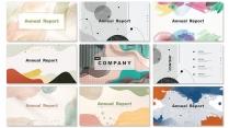 【艺术设计】现代简约清淡商务汇报工作总结工作【含八示例2