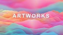 【抽象藝術】現代商務工作計劃項目匯報通用模板