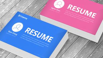 蓝色粉色仿UI导航版式精致高端个人简历履历CV模板