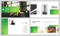 【極簡風】綠色漸變雜志風PPT商務模板示例3