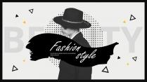 【创意】时尚干净简约演讲提案品牌PPT模板示例2
