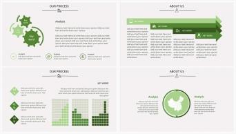 欧美清新风系列2:森林绿扁平化商务实用PPT模板示例5