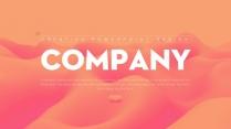 【抽象】橙红渐变温柔创意商务工作汇报PPT模板