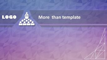 简约低多边形风格PPT模板(六)