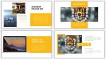 黄色杂志风商务汇报PPT模板示例5
