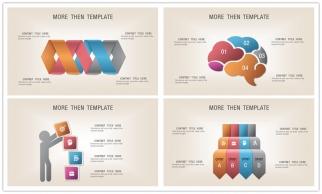 仿古立体——高端精致时尚图文混排图表   02