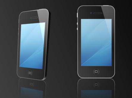 【ppt绘制iphone4手机-ppt素材ppt模板】-pptstore