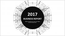 经典黑白创意点线总结报告工作计划商务策划模板04