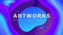 【抽象艺术】现代商务总结汇报通用模板