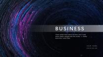 【蓝?#29616;?#28843;】高端大气科技商务报告模板