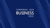 【商务蓝条】高端大气极简蓝色报告年终汇报项目提案
