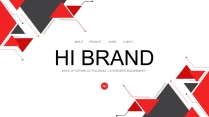 红黑几何公司介绍企业宣传工作PPT示例2