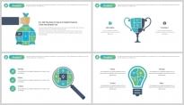 【极致商务】简约创意公司企业品牌工作总结汇报PPT示例5