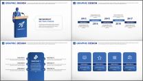 蓝色星球清新科技商务通用PPT模板示例5