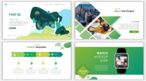 2018绿色极简时尚网页风PPT模板示例6